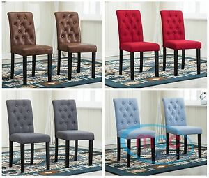Details About Mcclinded Fabric Dining Chairs Solid Wooden Legs Home Commercial Restaurants