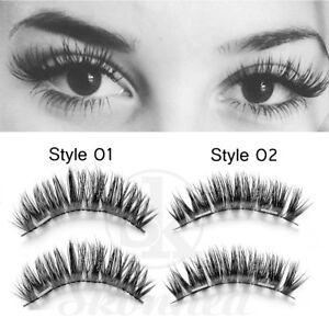 Magnetic-False-Eyelashes-3D-Natural-Eye-Lashes-Extension-Handmade-4Pcs-2-Pairs