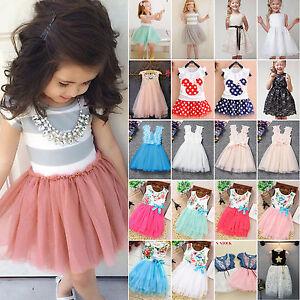 ac1f4cb12a8e2 Bébé Fille Robe Princesse Enfants Fête Paillette Concours Tulle Tutu ...