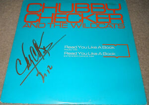 CHUBBY-CHECKER-SIGNED-AUTOGRAPHED-VINYL-ALBUM-PROMO-12-SINGLE