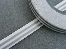 Zierstreifen 2x 1,5 mm doppelt silber matt Zierlinie Dekorstreifen mattsilber