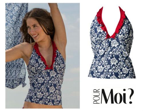 Pour Moi Aloha Underwired Halter Tankini Top 7101 New Womens Swimwear