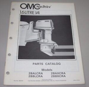 Sachbücher Parts Catalog Omc Sea Drive Ersatzteilkatalog 1.6 Litre V4 Anleitungen & Handbücher 1,6 2balcra 2bbxcra Geschickte Herstellung