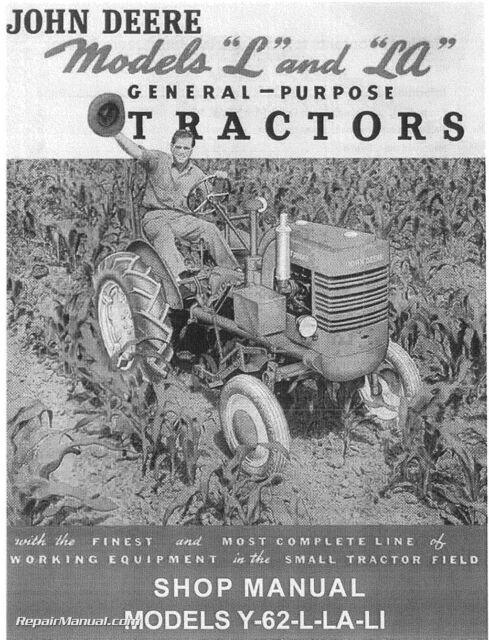 John Deere L La Li Y 62 Tractor Service Manual Manual Guide
