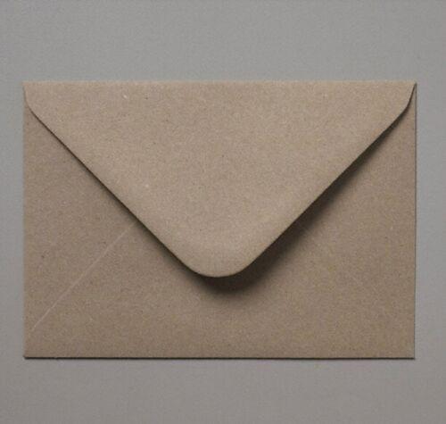 C6//A6 114x162mm Brown Recycled Fleck Kraft Envelopes 110gsm Free UK P/&P