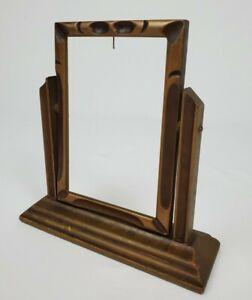 """Antique Swivel Wood Picture Frame Art Nouveau Victorian Fits 4"""" x 6"""""""