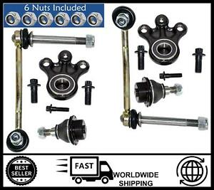 KIT FOR Peugeot 407 Suspension (FRONT) 2 Lower,2 Upper Ball Joint & 2 Drop Links