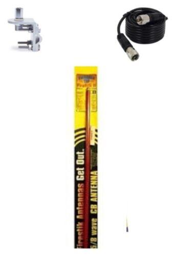 NEW FIRESTIK 2 FS5 R 5FT RED CB ANTENNA BRACKET /& STUD 9FT COAX