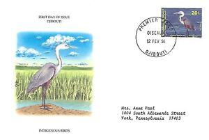 Dschibuti 1991 First Day Cover, Wasservögel