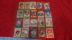 HALL-OF-FAMER-BASEBALL-CARDS-20-MIXED-PLAYERS-BRANDS-AND-TYPES-OF-CARDS