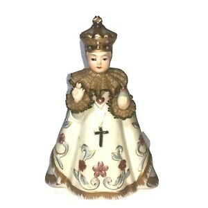 Vintage-Infant-of-Prague-Lefton-China-Hand-Painted-Jesus-Statue-Figurine-w-Label