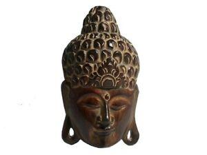 Wandmaske-Bali-Holz-Buddha-Maske-Deko-fuer-Wand