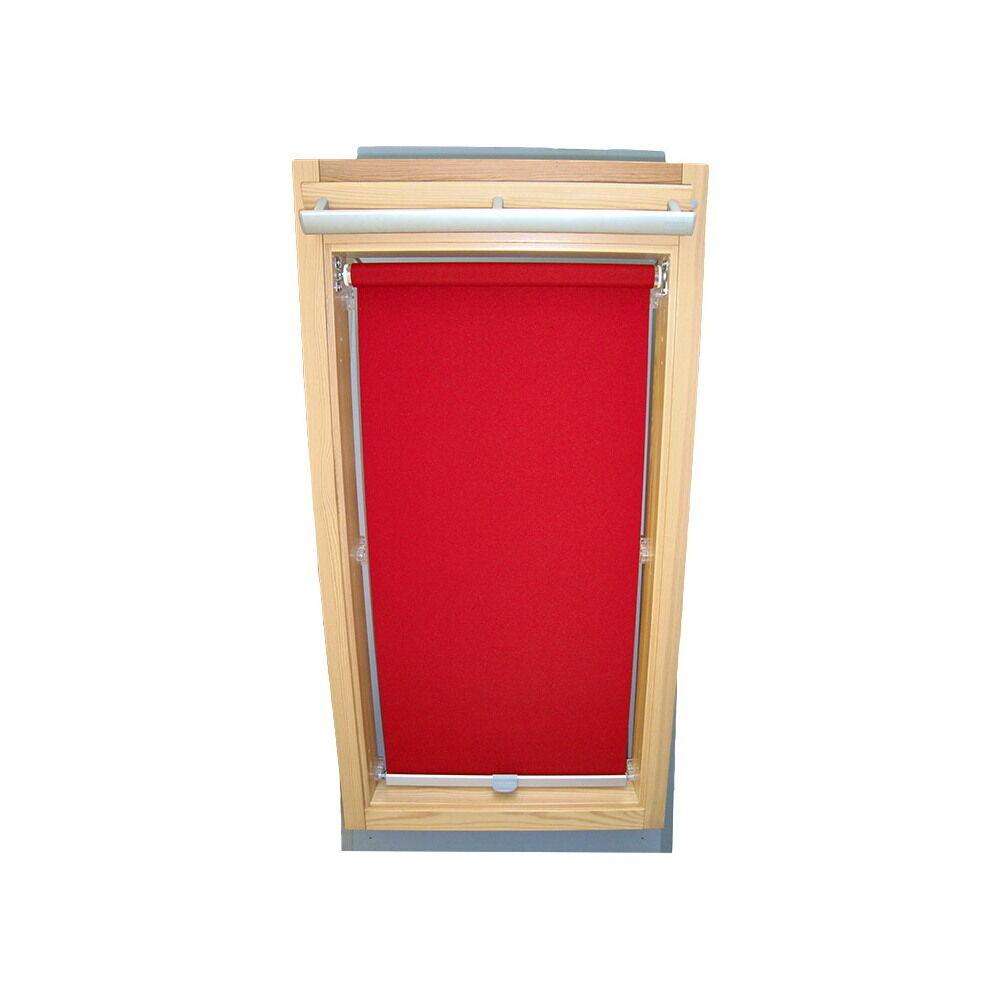 Dachfensterrollo Sichtschutzrollo Rollo für Roto WDF 410 - 419 - weinrot | Roman