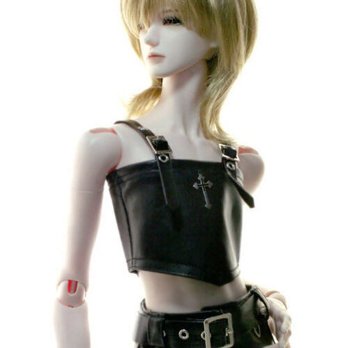 """SM Leather Top Dollmore 28/"""" BJD clothes and acc Model M Size"""