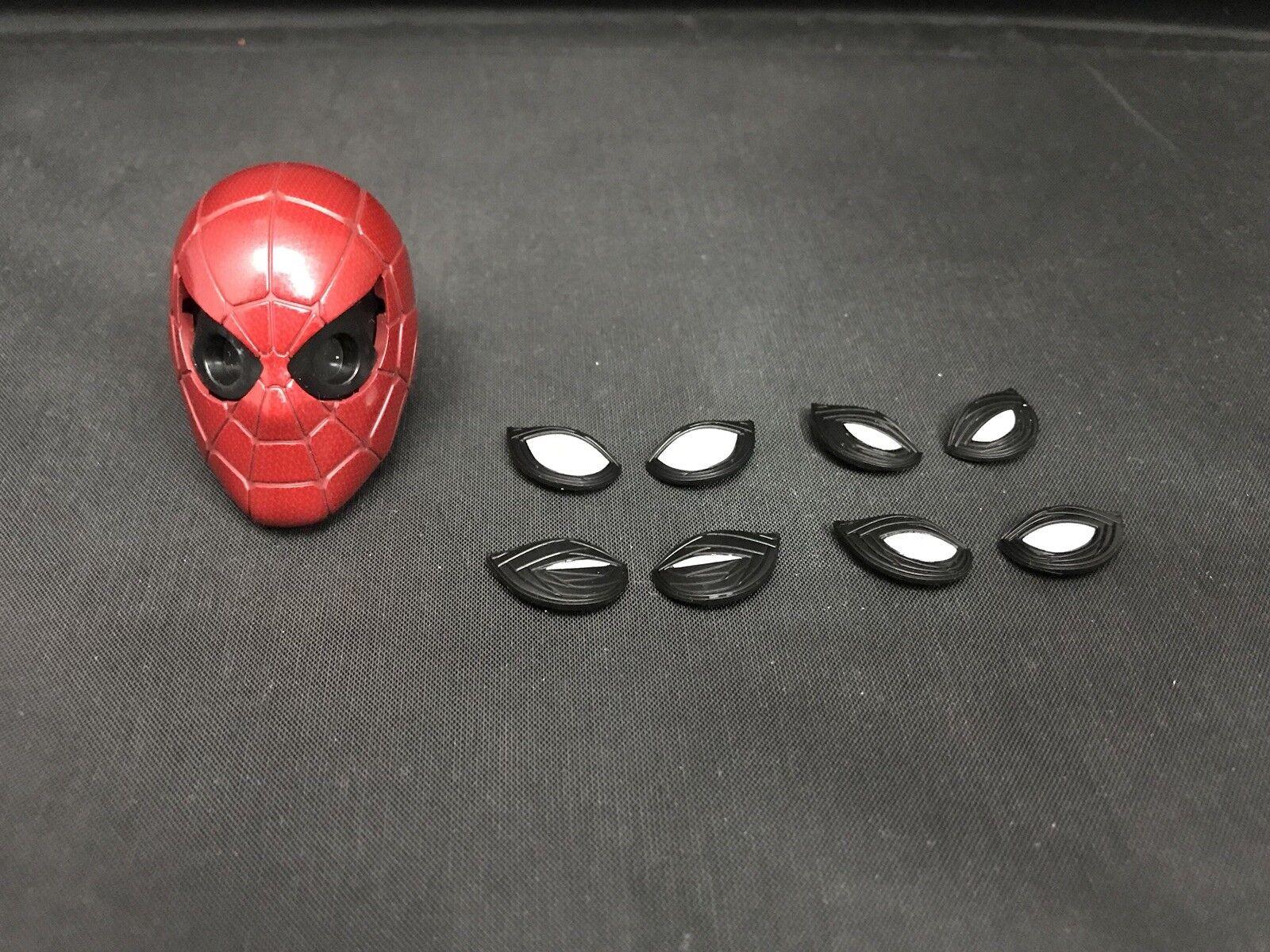 Heißes spielzeug 1   6 mms482 avengers unendlichkeit krieg eisen spider - maske kopf und augen.