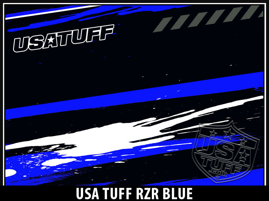 USATuff Full Wrap Decal Full USATuff Kit fits Custom YETI Tundra 65qt Cooler RZR SxS Blau 17878c