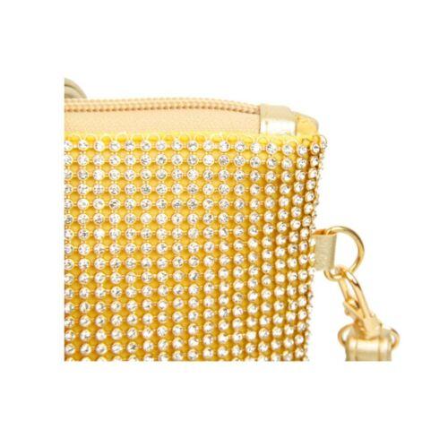 Diamante Evening Diamond Wedding Clutch Purse Prom Party Cross Body Handbag UK