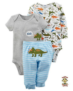 Carter-039-s-3-piece-Turn-Me-Around-Set-Dinosaur-9-mos-Authentic-amp-Brand-New