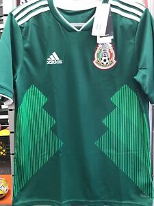 Details about adidas Youth Mexico 18/19 Home Green Jersey Size Large De Niño
