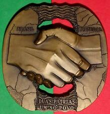 Brazil / Cross Hands / Friendship / Rightness / Bronze Medal By M.Nogueira