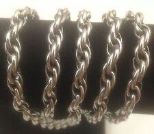 "Silvertone 1/4"" Twisted Metal Necklace 36"" Jewelry"