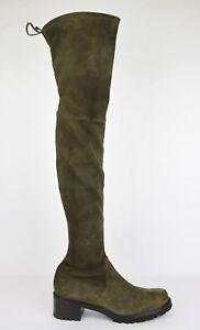 aecfb8fe083  835 New Stuart Weitzman Olive Green Suede Vanland Over-The-Knee ...