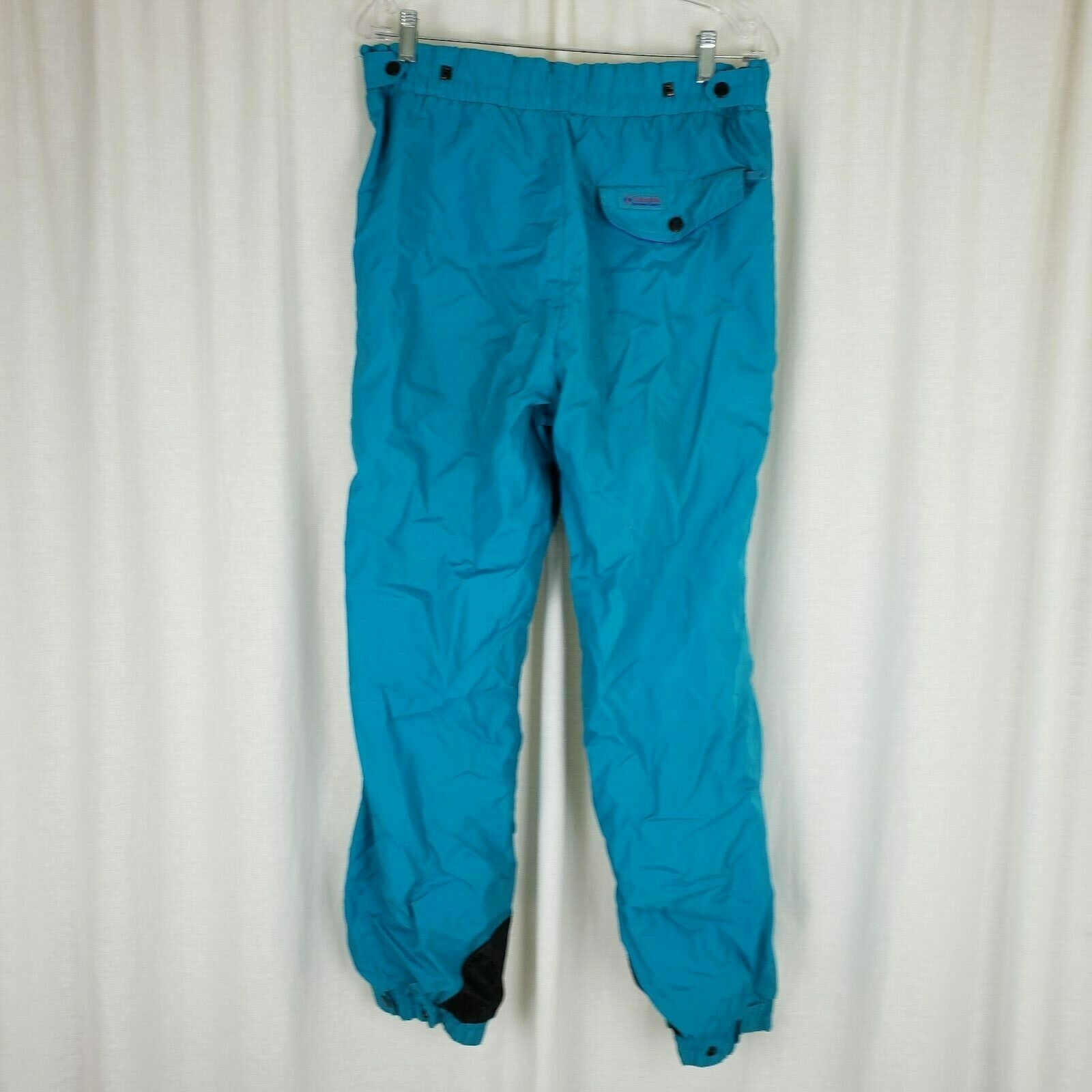 Vintage Columbia Unlined Winter  Ski Snowboard Rain Running Pants Womens M bluee  low price