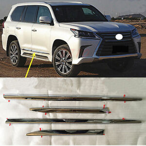 For Lexus LX570 2016 - 2019 ABS Chrome Side Door Mouldings