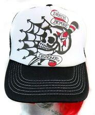 Tattoo Flash Skull Hat Death Before Dishonor Punk Goth Rockabilly Spider Web Emo