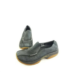 Merrell-Womens-Primo-Seam-Moc-Black-Oyster-Air-Cushion-Slip-On-Shoes-Size-US-8