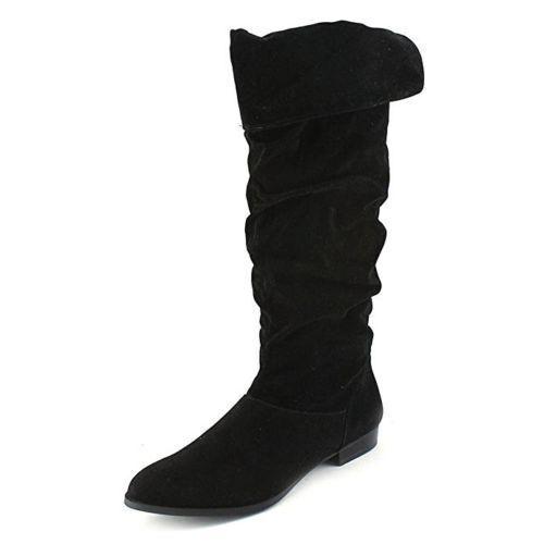 Style & Co  Boot Tiriza Womens Wide Calf Round Toe Boot Black 6M