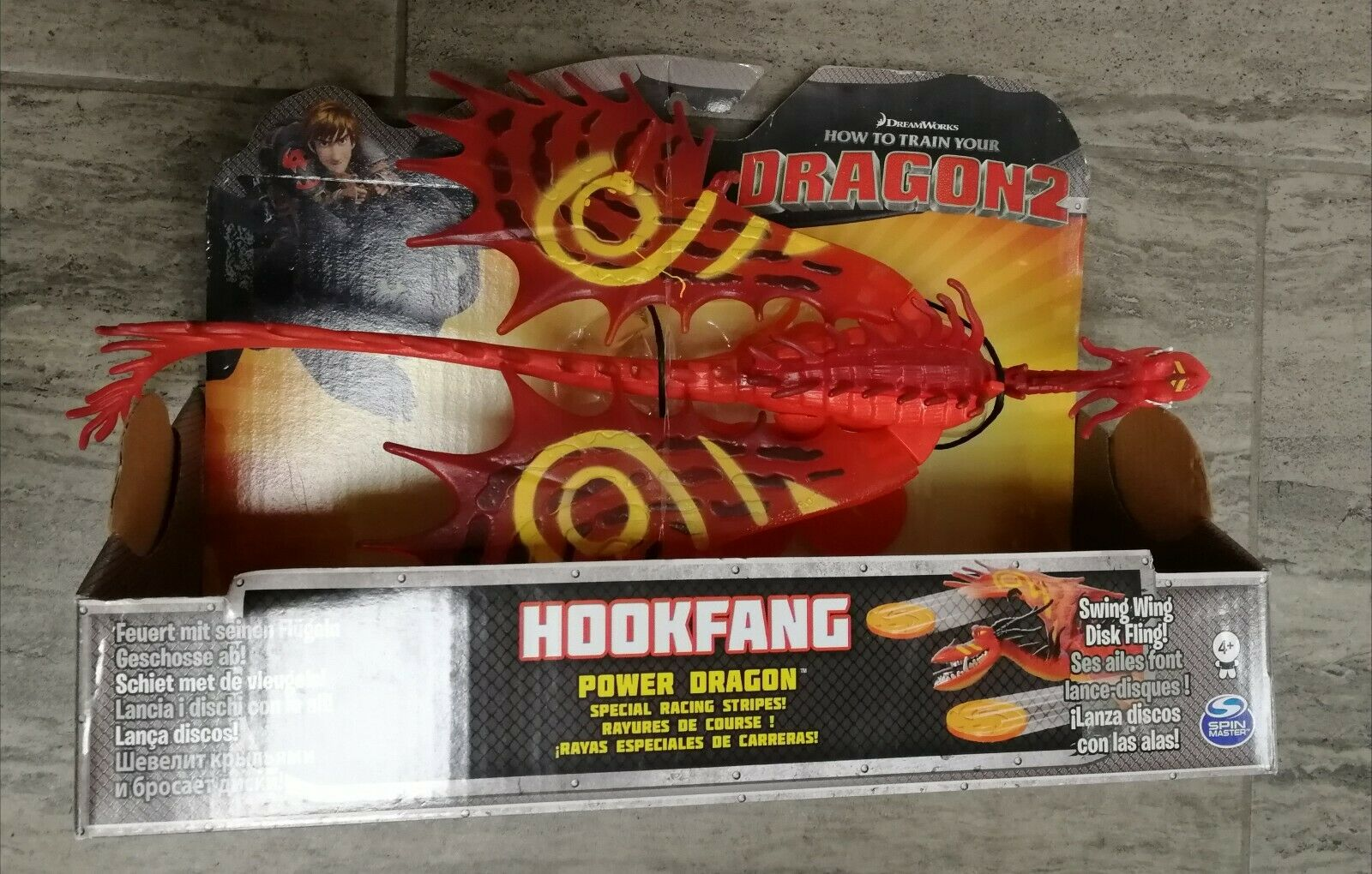 How To Train Your Dragon Power Dragon Hookfang Racing Stripes Figure Dreamworks