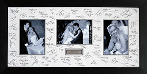Panoramic Personalised Guest Signing Signature Frame Triple Photos
