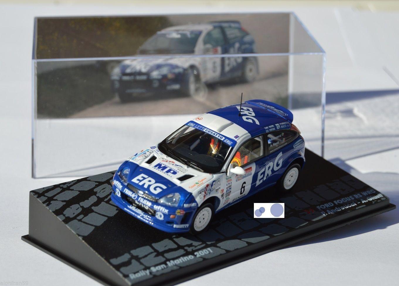 RALLY IXO DIECAST 1 43 Ford Focus WRC Andreucci Giusti 2001 San Marino eRAL055