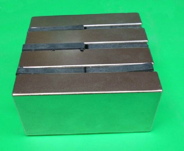 "4pcs/lot N52 1""*1/2""*1/4"" Neodymium Permanent super strong Magnets rare earth"