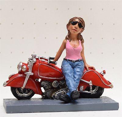 118: Motorradfahrerin Bikerin  Dekofigur Les Alpes Funny Jobs 014 99660