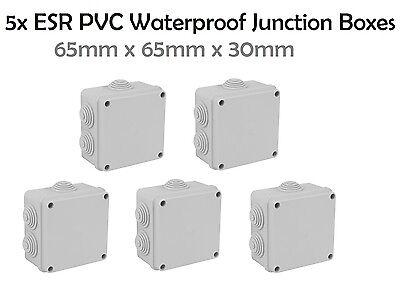 ESR Junction Box Square Enclosure IP44 65 x 65 x 30mm Cable Connetion Box CCTV