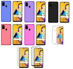 Blanco Funda para Samsung Galaxy M30S Carcasa Silicona Samsung Galaxy M30S Silicona Gel TPU Case Goma Colores del Caramelo Anti-Rasgu/ño Resistente Ultra Suave Protectora Caso