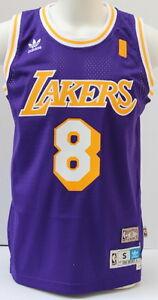01823fd07d4 Kobe Bryant LA Lakers Purple Hardwood Classics  8 Throwback Jersey ...