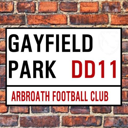 ARBROATH FC STREET SIGN ON A TEA//COFFEE COASTER.GAYFIELD PARK 9cm X 9cm