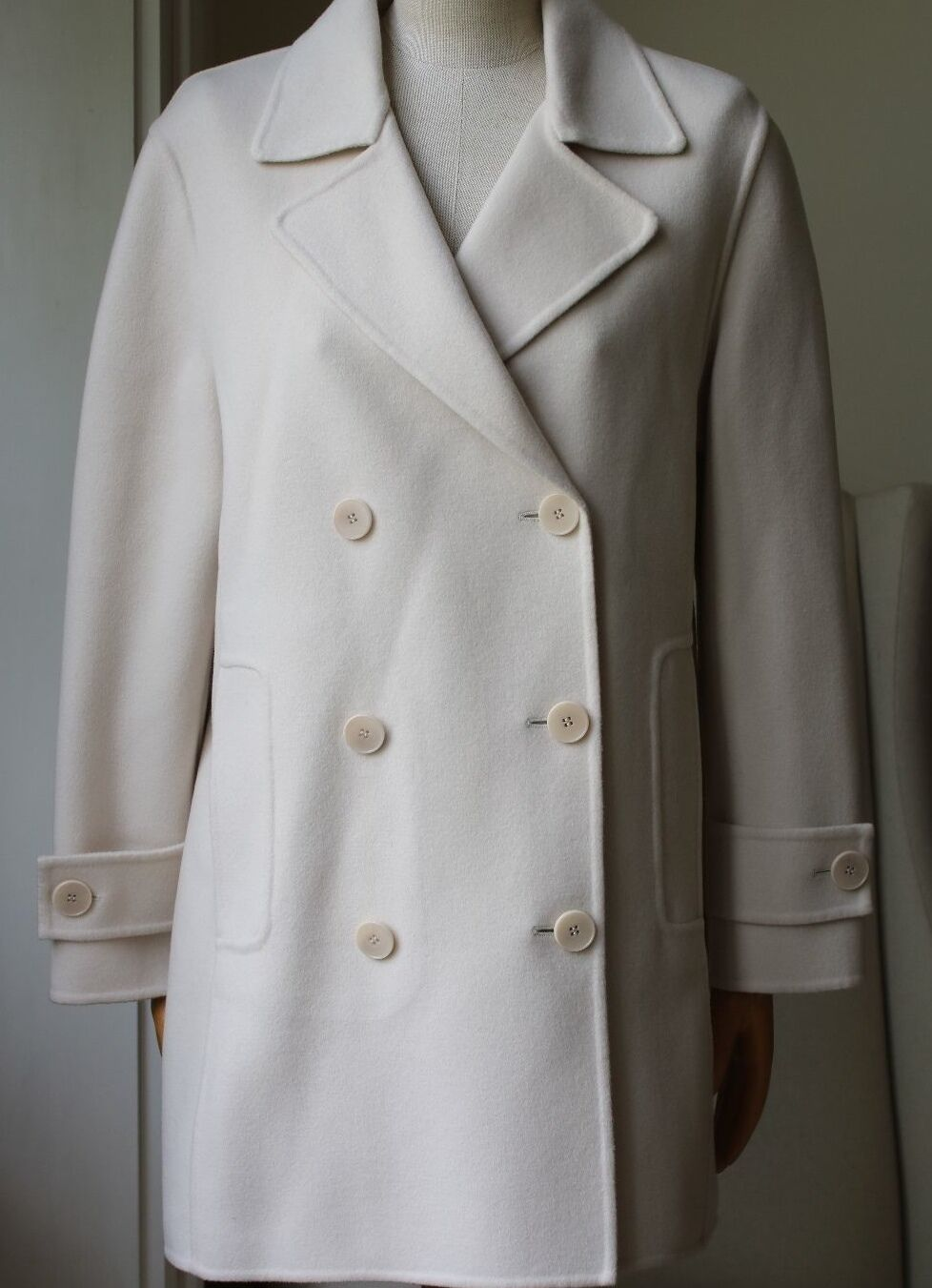 BARBARA BUI DOUBLE-BREASTED OVERSIZED WOOL OVERCOAT