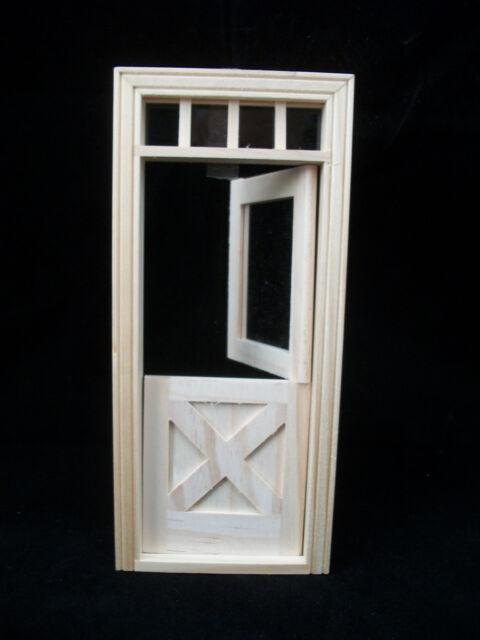 Door - Crossbuck Dutch - Dollhouse miniature wooden 6009  1/12 Scale Houseworks