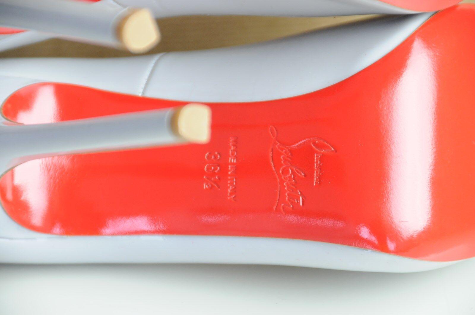 New CHRISTIAN LOUBOUTIN FLO 120 PATENT Leather grau Peep Toe 35.5 Pumps schuhe 35.5 Toe 36 250b89