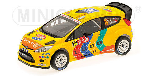 1 18 Minichamps Ford Fiesta RS WRC Wales Rally GB 2011 H. Solberg