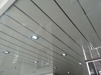 9 Twin Chrome V Groove Bathroom Cladding Panels Gloss White Chrome Inset Groove