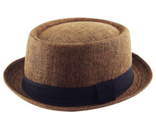 HEISENBERG BREAKING BAD PORKPIE CLASSIC TRILBY TEXTURED HAT CAP MENS PORK PIE