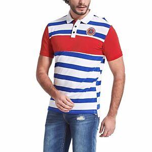 New-Mens-Golf-Polo-Shirt-Casual-Short-Sleeve-Striped-Cotton-Tee-Polo-Shirts-GD33