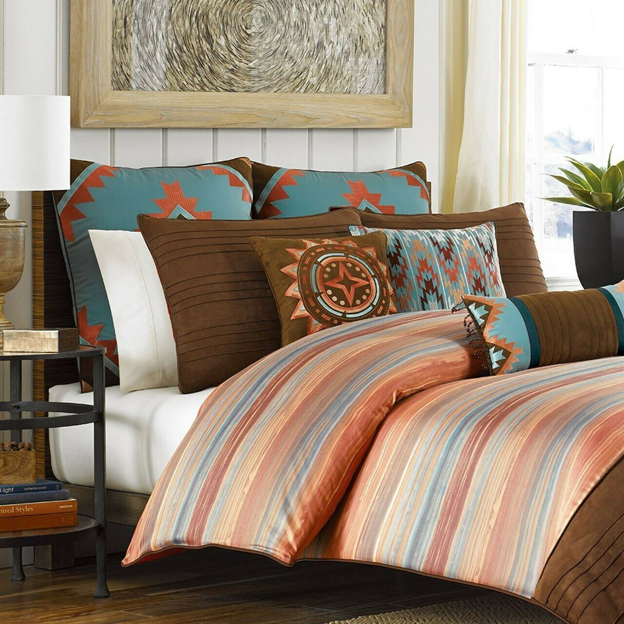 Croscill Ventura Duvet Cover Earth Tones Rust Orange Brown Twin 100 Cotton For Sale Online Ebay