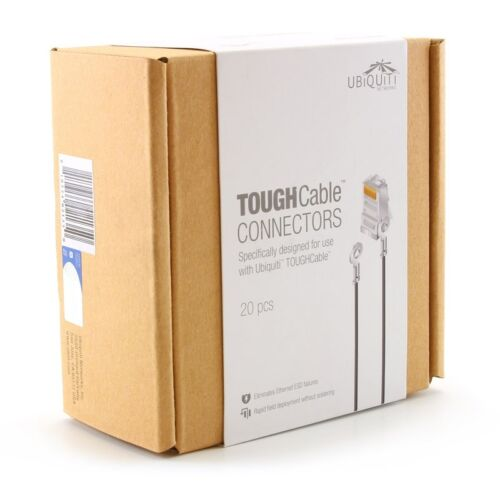 Ubiquiti TC-CON-GRD Connector STP RJ45 Grounded TOUGHCable W Grounding Wire 20pc