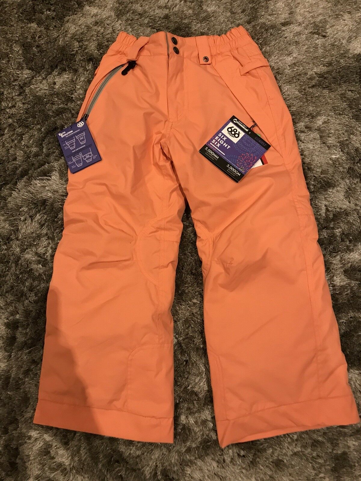 686 Youth Girls Mannual Snowboard Pants Coral  XS S  general high quality
